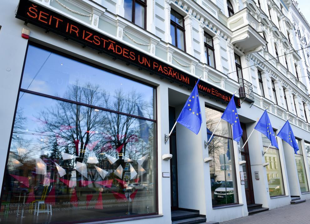 Eiropas Savienības māja Aspazijas bulvārī 28 Rīgā